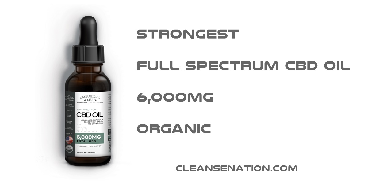 STRONGEST CBD OIL 6000MG